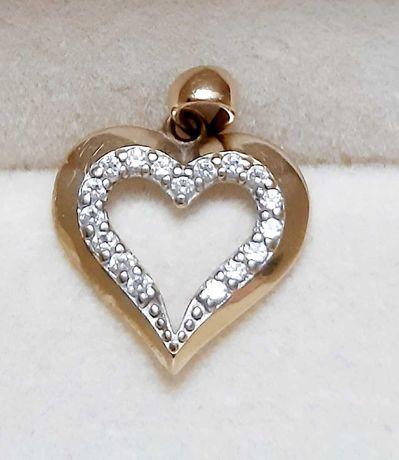 Zawieszka Złote Serce z kamyczkami - Apart , na prezent, święta