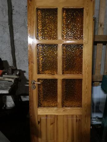 Drzwi  wewnętrzne sosnowe 2 pary 70 80