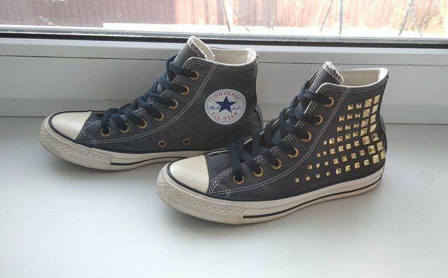 Кеды Converse высокие 37 р чёрные конверс  Кеды Converse, 37 размер,в