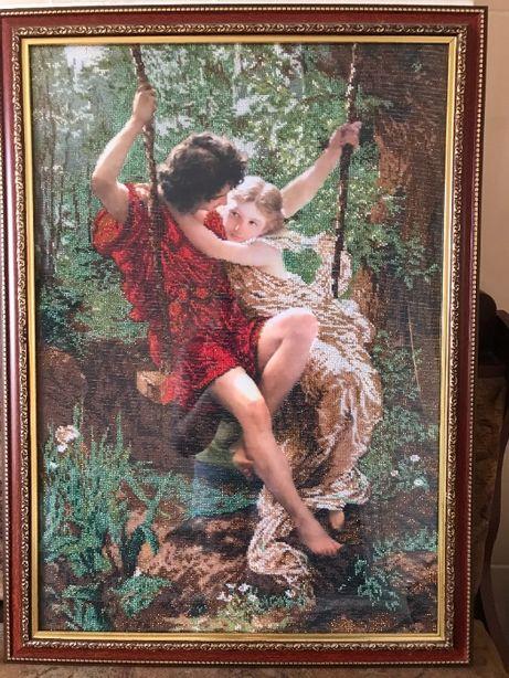 Картина вышита чешским бисером продажа д52*в71*г1,5