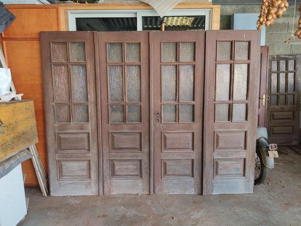 Porta de garagem 4 folhas kamabala