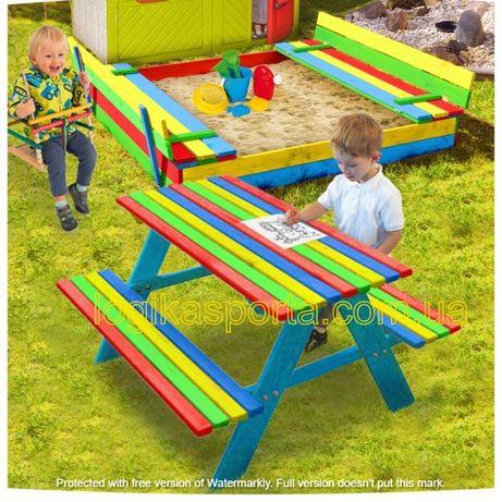 Песочница, песочница с крышкой, столик, детская игровая площадка