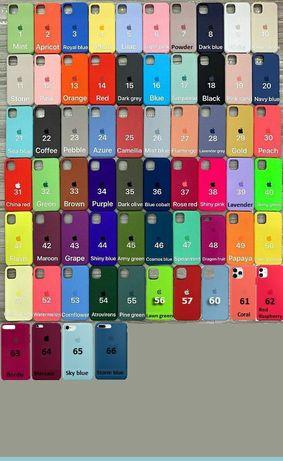 Silicone case для iPhone 11promax/11pro/11/XS/Xsmax/7/8plus/6/6splus/5