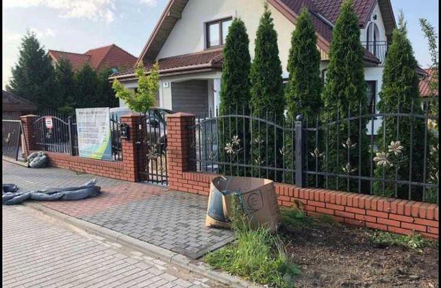 Płot ogrodzenie brama
