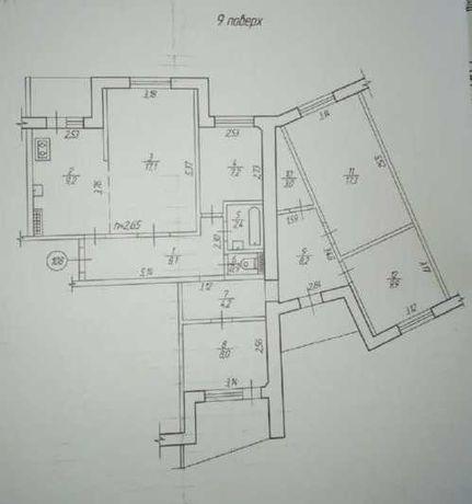 5кімнатна квартира з ремонтом