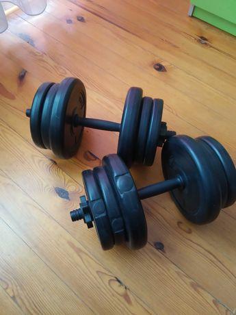 Hantle regulowane do ćwiczeń 20kg