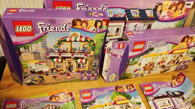 LEGO Friends. Gigantyczny zestaw: 41311, 41111, 41118, 41095 płytka XL
