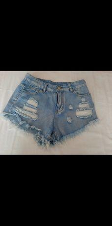 Spodenki poszarpane krótkie jeansowe Shein rozmiar M