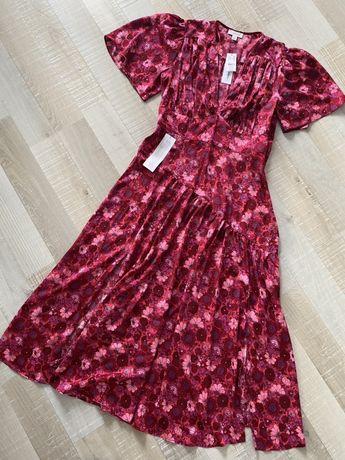 TOPSHOP sukienka midi floral print