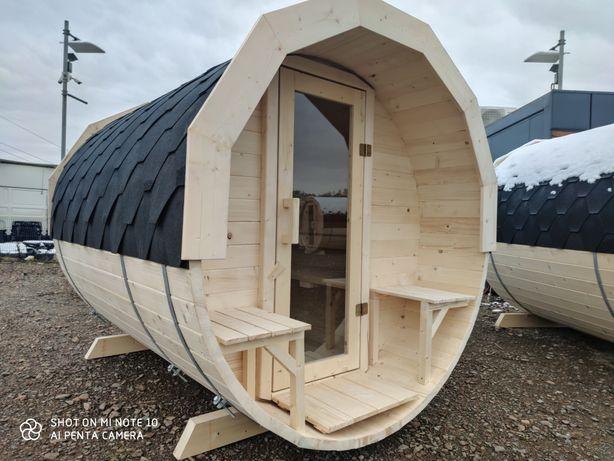 Sauna Ogrodowa *Przedsionek* Dostepnosc od Reki Sauny Beczka Balia