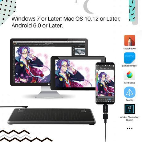 АКЦИЯ! Huion H430P Графический планшет Inspiroy Huion H430P + перчатка