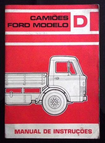 Ford Camiões modelo D - Manual de instruções
