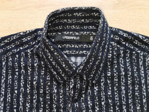 Męska czarna koszula Karl Lagerfeld 39/102 PIĘKNA