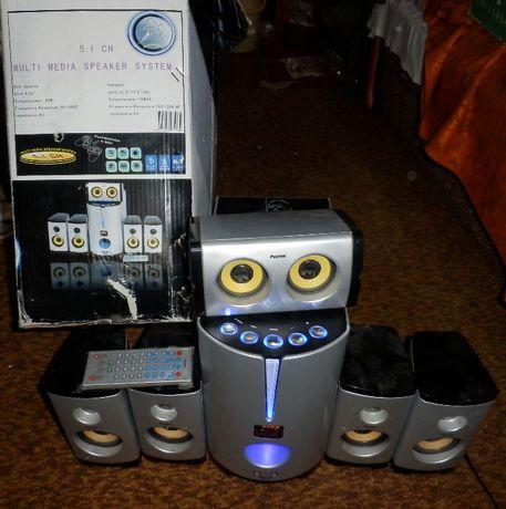 Продам акустику домашнего кинотеатра Patriot C2YS 5.1 КАРАОКЕ FM пульт