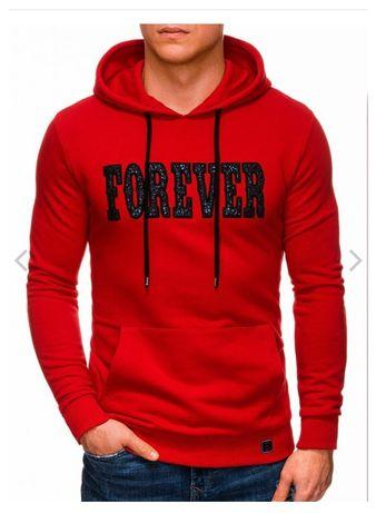 Bluza męska XL czerwona