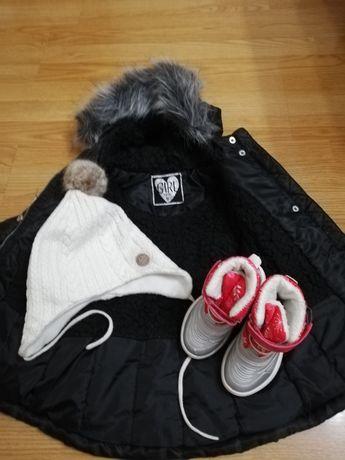 Kurtka zimowa cool club,śniegowce lupilu, ciepła czapka h&m