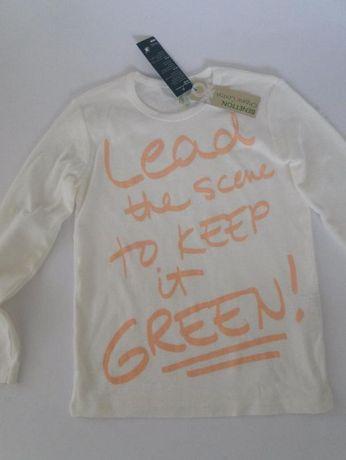 Bluzka długi rękaw Benetton wiek 6-7 lat rozmiar 116 -120- NOwa