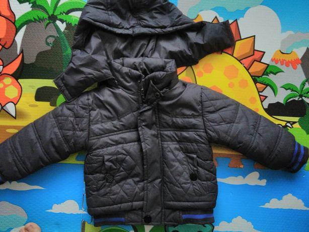 Демисезонная теплая куртка с капюшоном мальчика весенняя осенняя деми