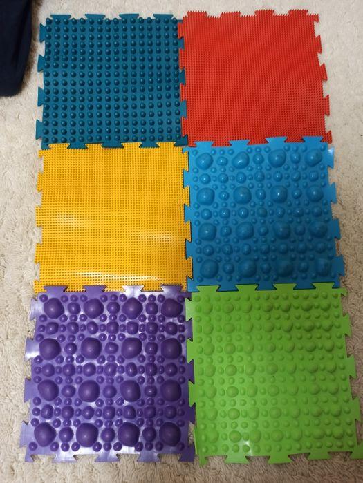 Детский ортопедический коврик  бу, коврик пазл массажный Днепр - изображение 1