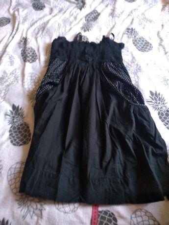 Czarna letnia sukienka