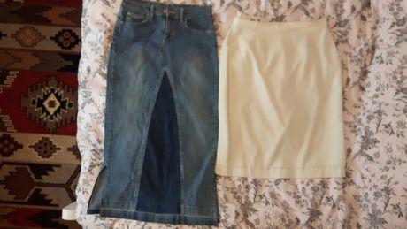 Garsonka r. 40 i bluzki, żakiet r XXL, swetry 42, spódnice 38 i 44