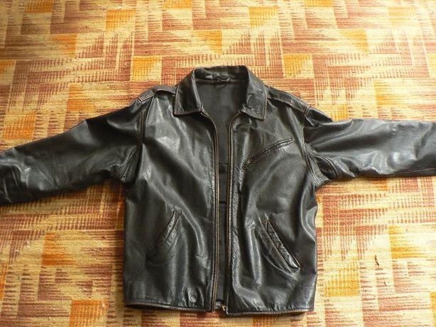 """Куртка мужская из литой кожы модель """"пилотка"""" наилучшего качества."""