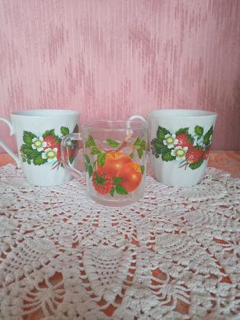 Чашки, стаканы, розетки