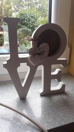 Ramki na zdjęcie LOVE nowoczesna miłość na ścianę lub stojąca KARTON