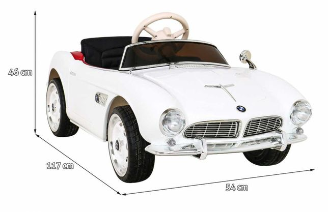 Pojazd BMW 507 Retro Biały