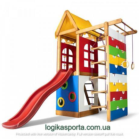 Детская игровая площадка для двора. Горка, детский спортивный комплекс