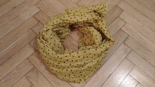 Apaszka w kolorze żółto-brązowym