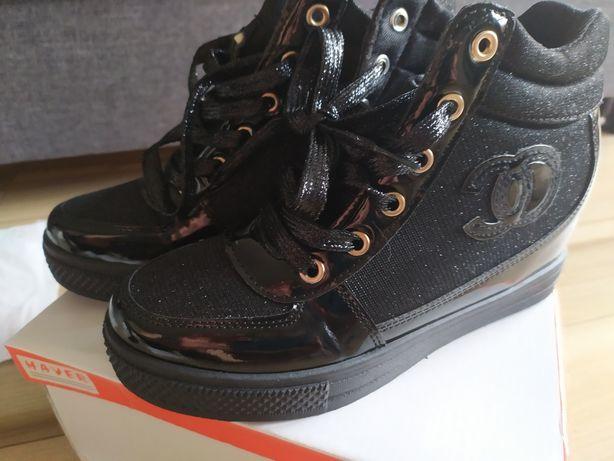 Sneakersy koturna 38