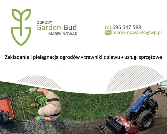 Ogrody Garden-Bud trawnik glebogryzarka separacyjna uslugi sprzetowe
