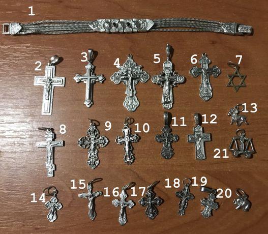 Продам крестики и подвесы 925 пробы