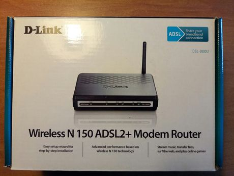 Роутер модем D-Link DSL-2600U Wireless N 150 ADSL2+Modem Router