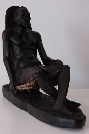 Conjunto de 3 Esculturas Angolanas em madeira