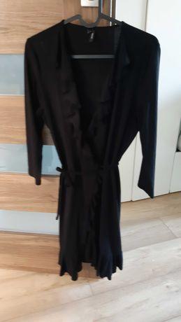 Kopertowa sukienka czarna S Vero Moda