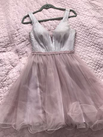 Sukienka princess tiulowa róż M
