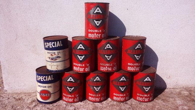 latas oleo antigas