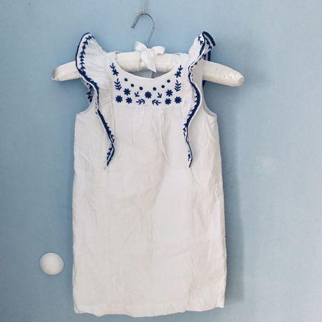 Sukienka dziewczęca baby Gap santorini mamaginekolog styl