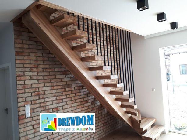 schody drewniane jesionowe rustykalne szczotkowane wycena online