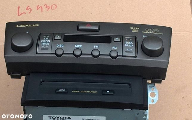LEXUS LS430 03r RADIO ZMienniarka cd 86120-50621