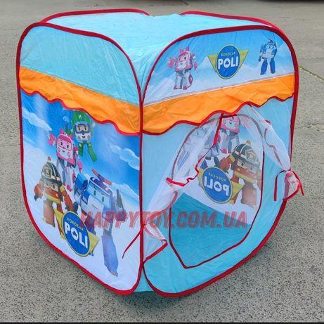 Палатка детская игровая «Робокар поли» домик, тент