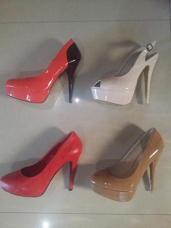 WYPRZEDAŻ buty szpilki impreza koturn