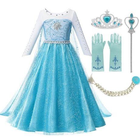 suknia Elza Frozen Kraina Lodu kostium strój 98,104,110,116,122,134