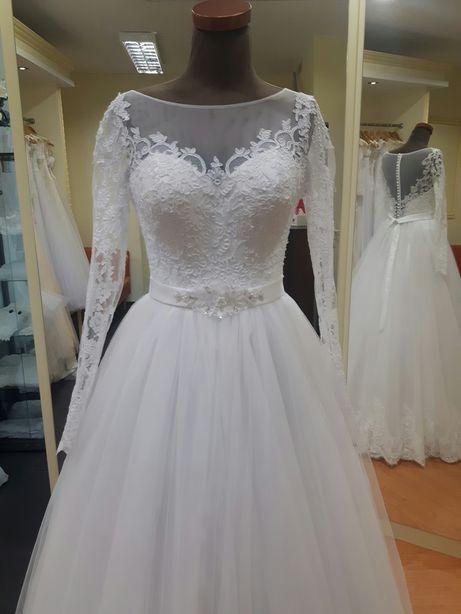 Suknia ślubna 36 38 biała tiulowa princessa księżniczka LUBLIN