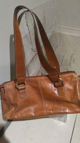Стильная качественная рыжая сумка