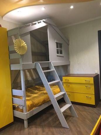 Домик кровать чердак двухъярусная