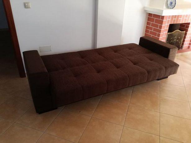 Sofá cama Belga com 220 cm, novo de fábrica