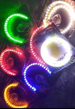 """LED подсветка """"ангельские глазки"""" гибкая водостойкая 12V"""
